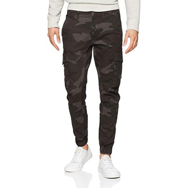 JACK & JONES мужские хлопковые камуфляжные штаны карго с карманами на манжетах
