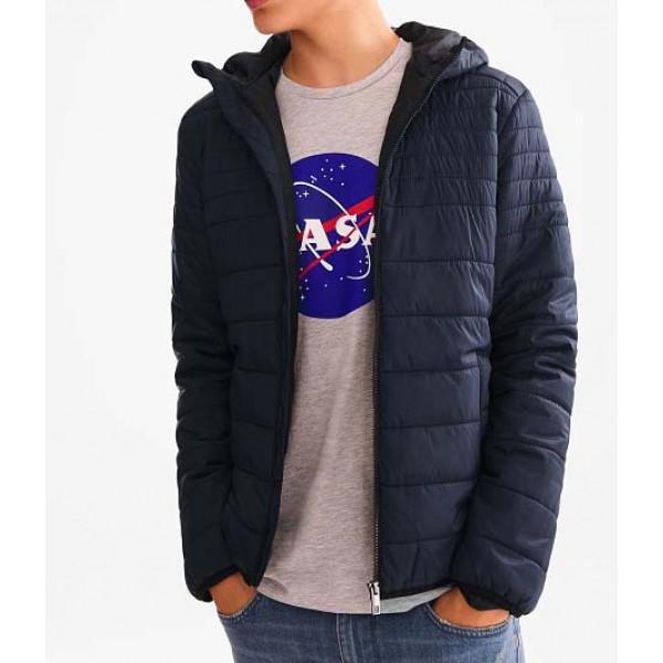 Демисезонная синяя мужская стеганная куртка воздуховик C&A оригинал