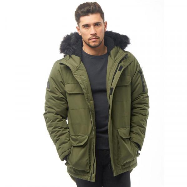Мужская куртка парка Bellfield Nimrod Parka c  капюшоном удлиненная