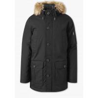 Мужская черная куртка парка C&A c капюшоном удлиненная
