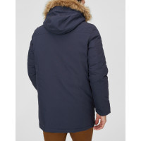 Мужская зимняя синяя куртка парка C&A c капюшоном удлиненная