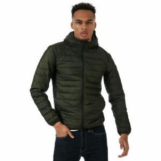Демисезонная мужская куртка стеганая хаки  Jack Jones Boom Twist Puffer