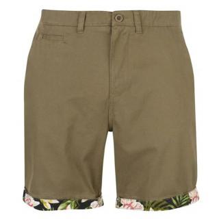 Мужские хлопковые шорты хаки Pierre Cardin AOP Turn Up