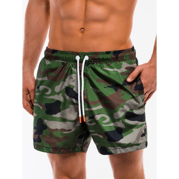 Мужские короткие плавательные шорты Ombre хаки оригинал