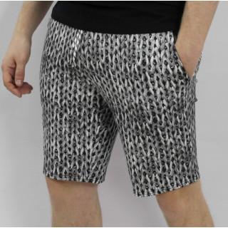 Мужские черно-белые трикотажные шорты Shopchik