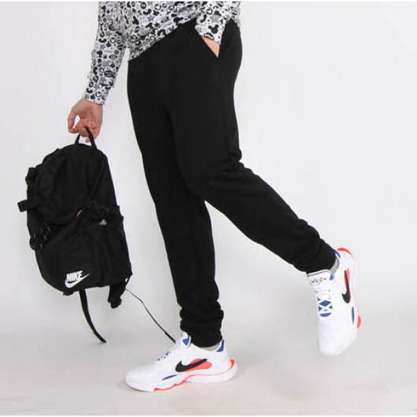 Мужские черные трикотажные штаны на манжетах Shopchik
