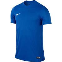 Мужская яркая однотонная футболка Nike синтетика 725891-463