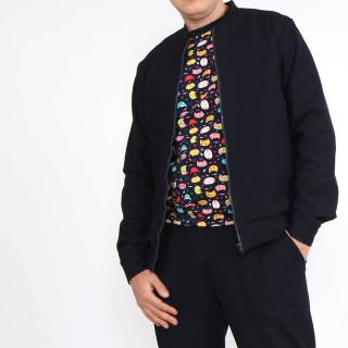 Мужской однотонный синий Casual костюм Shopchik
