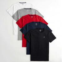 Черная хлопковая футболка Hollister Must-Have