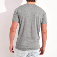 Серая хлопковая футболка Hollister Must-Have