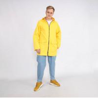 Мужской тонкий Casual плащ желтый Shopchik