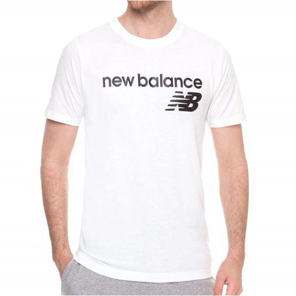 Футболка белая New Balance Classic Core Logo MT03905WT