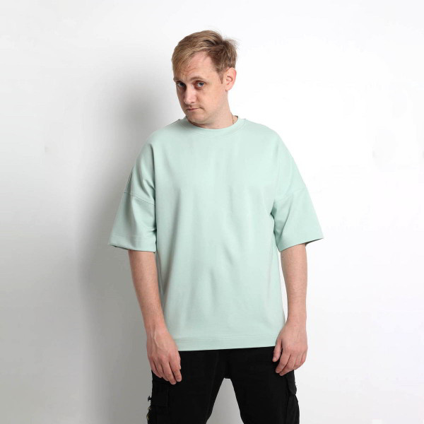 Унисекс оверсайз мятная футболка Shopchik