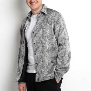 Мужская ветровка-рубашка яркая серая Shopchik
