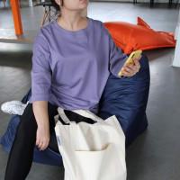 Унисекс оверсайз фиолетовая футболка Shopchik