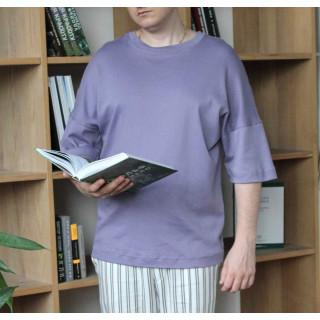 Унисекс оверсайз футболка  фиолетовая Shopchik