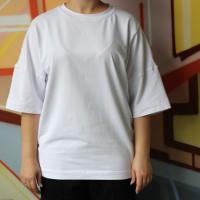 Унисекс оверсайз белая футболка Shopchik