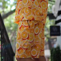 Яркие повседневные хлопковые шорты апельсины Shopchik