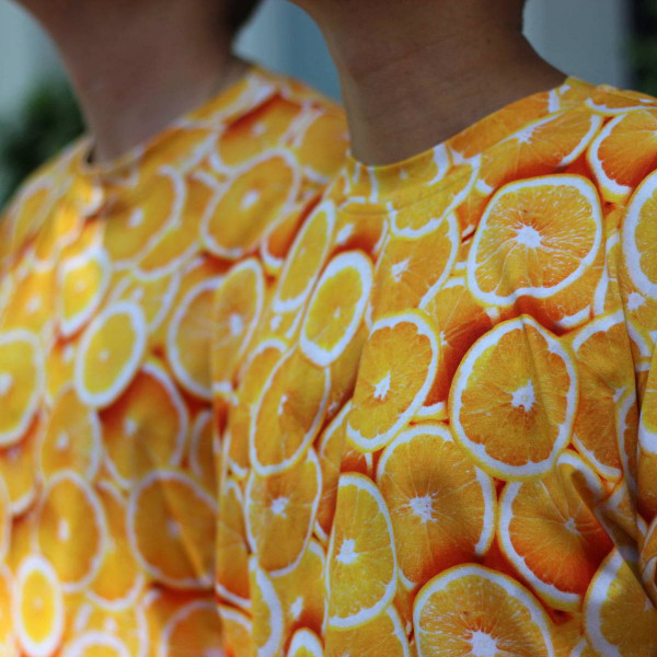 Яркая оверсайз футболка с апельсинами Унисекс Shopchik ;)