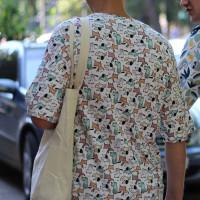 Oversize футболка в мелкий принт собак Shopchik
