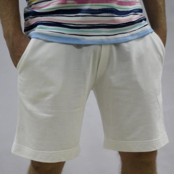 Белые широкие хлопковые шорты Shopchik