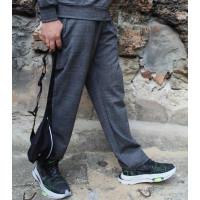Мужские прямые серые брюки в клетку Shopchik