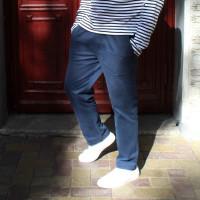Мужские прямые синие брюки кэжуал Shopchik